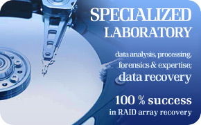 RAID Data Recovery, data rescue from disk arrays: 100% success rate